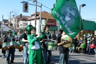 Drummers from Trinity High School were part of the annual Ancient Order of Hibernians St. Patrick's Day Parade on Bardstown Road and Baxter Avenue March 10, 2012.
