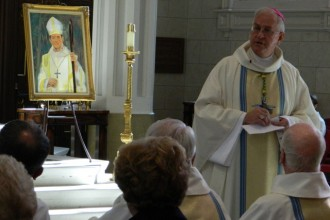 Archbishop Joseph E. Kurtz gave the homily at a Mass for the late Archbishop Kelly.