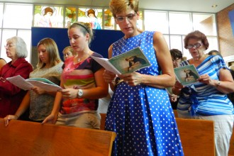 About 750 Catholic elementary school teachers attended a liturgy at St. Gabriel Church Aug. 8 to mark the beginning of a new school year. (Record Photo by Marnie McAllister)