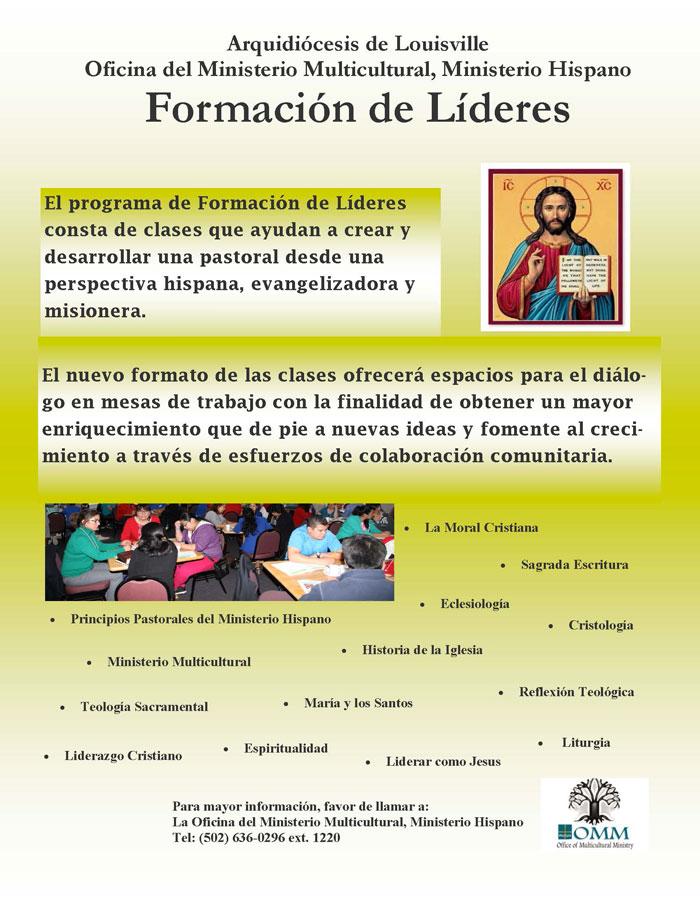 El Programa de Formación de Lideres tendrá lugar el 8 de agosto
