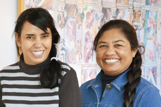 Sister Maria Daniel,R, and Sister Samina Iqbal