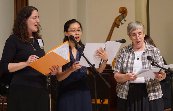 "A choir formed by ""Women of the Church"" conference participants led music during the opening and closing liturgical events. (Record Photo by Marnie McAllister)"