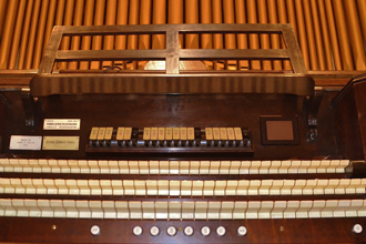 The historic pipe organ of St. James Church in Louisville was built by an unknown builder in the 19th century. It was  installed in St. James after 1912 and rebuilt by Louisville's Henry Pilcher's Sons during the Great Depression in 1931, and enlarged to more than 2,200 pipes by Webber-Borne Organbuilders in 2012.