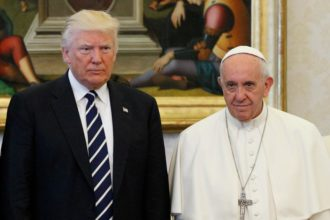 Pope Francis poses with U.S. President Donald Trump during a private audience at the Vatican May 24. (CNS photo/Paul Haring)