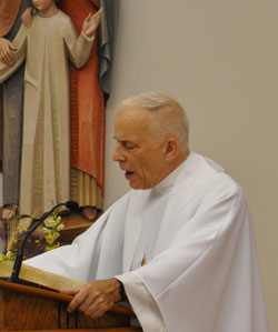 Father Patrick Dolan gave the homily during a June 23 Fortnight for Freedom Mass at the Little Sisters of the Poor.