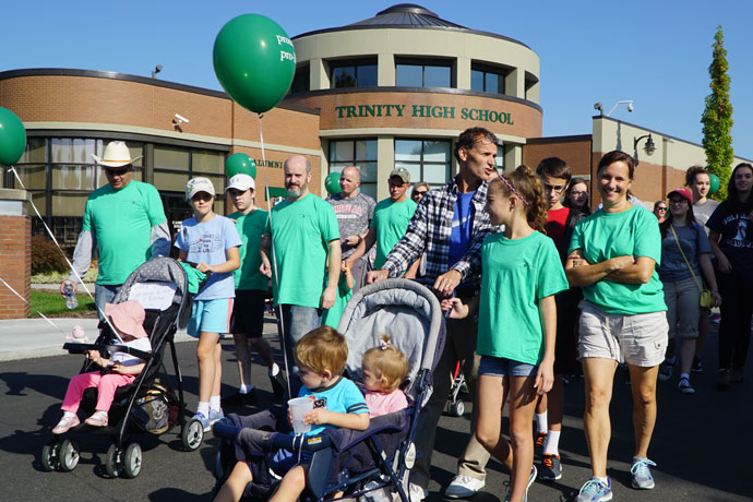 Nearly 500 walkers were met with blue skies and moderate temperatures for the 39th annual Walk for Life. The walk — hosted by the Kentucky Right Life Association — began at Trinity High School, 4011 Shelbyville Road, and continued through the St. Matthews area. (Record Photo by Jessica Able)