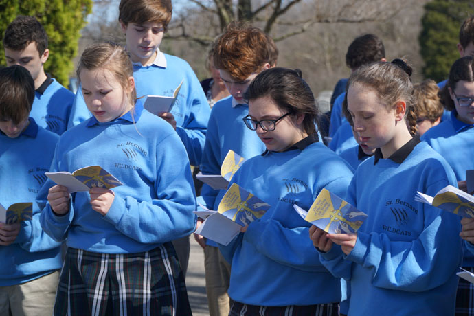 St. Bernard students lead Way of the Cross